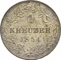 Кованица > 1крајцер, 1842-1857 - Virtemberg  - reverse