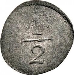 Кованица > ½крајцера, 1818 - Virtemberg  - reverse