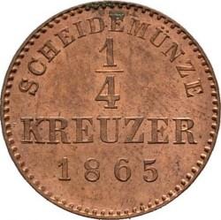 Кованица > ¼крајцера, 1865-1872 - Virtemberg  - reverse