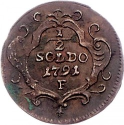 Moneda > ½soldo, 1791-1792 - Gorizia i Gradisca  - reverse
