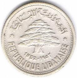 Кованица > 50пиастра, 1952 - Либан  - obverse
