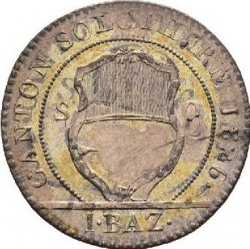 Moneta > 1batzen, 1826 - Kantony Szwajcarii  (Nominał - 1 BAZ) - reverse
