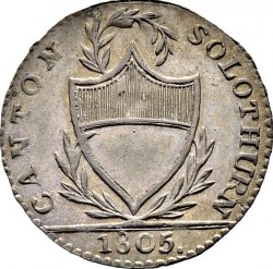 Кованица > 1batzen, 1805 - Кантони Швајцарске  - obverse