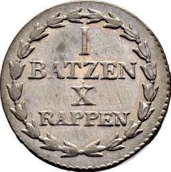 Кованица > 1batzen, 1805 - Кантони Швајцарске  - reverse