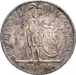 Монета > 4франка, 1813-1814 - Кантони на Швейцария  - reverse