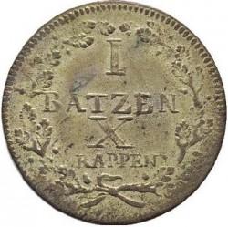 Монета > 1батцен, 1807-1811 - Кантони на Швейцария  - reverse