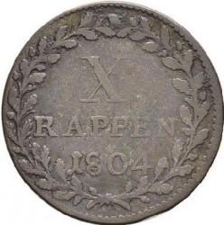 Moneta > 1batzen, 1804-1806 - Cantoni della Svizzera  - reverse