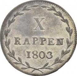 Монета > 1батцен, 1803 - Кантони на Швейцария  - reverse
