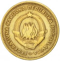 錢幣 > 10第納爾, 1955 - 南斯拉夫  - obverse