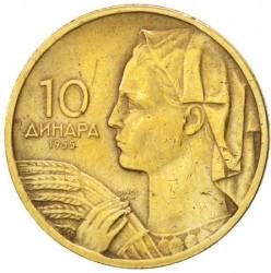 錢幣 > 10第納爾, 1955 - 南斯拉夫  - reverse