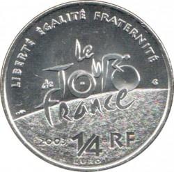 Moneda > ¼euro, 2003 - Francia  (100 aniversario - Tour de France) - obverse