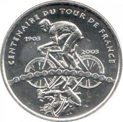 Moneda > ¼euro, 2003 - Francia  (100 aniversario - Tour de France) - reverse
