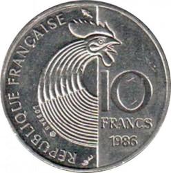 მონეტა > 10ფრანკი, 1986 - საფრანგეთი  (100th Anniversary - Birth of Robert Schuman) - obverse