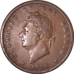 Moeda > 1pence, 1825-1827 - Reino Unido  - obverse