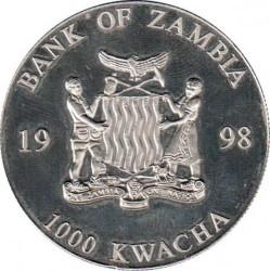 Moneda > 1000kwacha, 1998 - Zambia  (50 aniversario - Organización Mundial de la Salud) - obverse