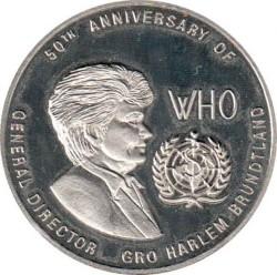 Moneda > 1000kwacha, 1998 - Zambia  (50 aniversario - Organización Mundial de la Salud) - reverse