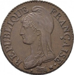 Moneta > 5centesimi, 1796-1800 - Francia  - obverse