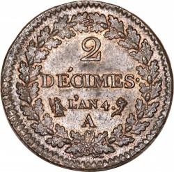 سکه > 2decimes, 1795-1796 - فرانسه  - reverse