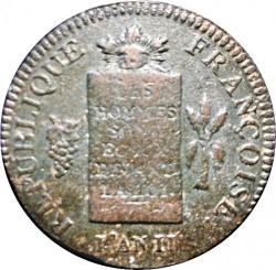 Moneta > 2soles, 1793 - Francia  (Data: L'AN II) - obverse