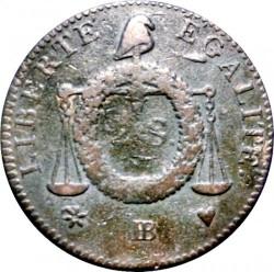 Moneta > 2soles, 1793 - Francia  (Data: L'AN II) - reverse