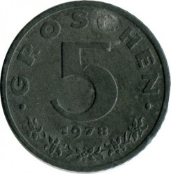 سکه > 5گروشن, 1978 - اتریش   - obverse