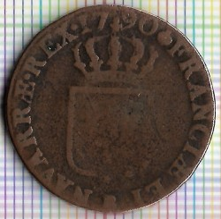 Монета > 1соль, 1777-1791 - Франция  - obverse