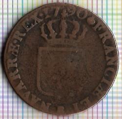 Монета > 1соль, 1777-1791 - Франция  - reverse