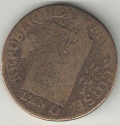 Pièce > 1sol, 1793 - France  (Date: L'AN II) - obverse