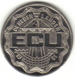 Монета > 2½ЭКЮ, 1991 - Нидерланды  (Арнем) - reverse