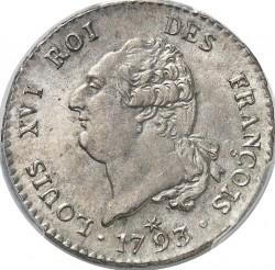 """سکه > 30سول, 1791-1793 - فرانسه  (Lettering """"ROI DES FRANÇOIS"""") - obverse"""
