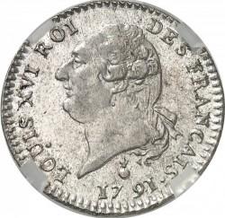 """Moneta > 15soles, 1791-1792 - Francia  (Dicitura """"ROI DES FRANÇAIS"""") - obverse"""