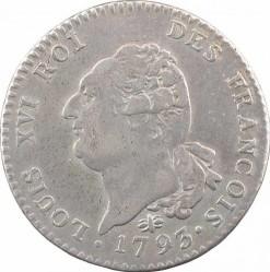 """錢幣 > 30索爾, 1791-1793 - 法國  (Lettering """"ROI DES FRANÇOIS"""") - obverse"""