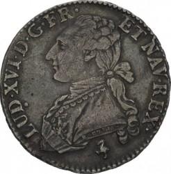 Moneta > ½Ecu, 1774-1792 - Francia  - obverse