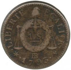 Moneta > 1sol, 1793 - Francia  (Data: 1793) - reverse