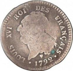 """سکه > 30سول, 1791-1793 - فرانسه  (Lettering """"ROI DES FRANÇAIS"""") - obverse"""