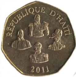Moeda > 5gurdes, 1995-2013 - Haiti  - obverse