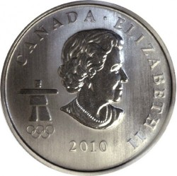 Moneda > 50 centavos, 2010 - Canadá  (XXI winter Olympic Games, Vancouver 2010 - Miga, Skeleton) - reverse