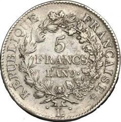 Münze > 5Franken, 1795-1802 - Frankreich  - reverse