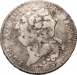 "錢幣 > 1ECU, 1792-1793 - 法國  (Lettering ""ROI DES FRANÇAIS"") - obverse"