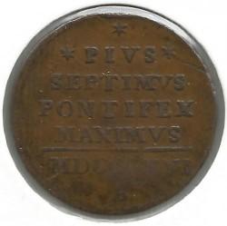 Монета > ½байокко, 1816-1822 - Папська область  - reverse