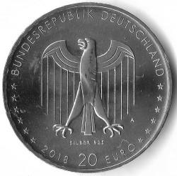 Monēta > 20eiro, 2018 - Vācija  (150th Anniversary - Birth of Peter Behrens) - reverse