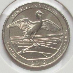 Монета > ¼долара, 2018 - США  (Національне узбережжя острова Камберленд) - obverse