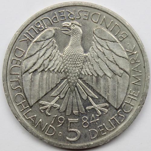 5 Mark 1984 Deutscher Zollverein Deutschland Münzen Wert