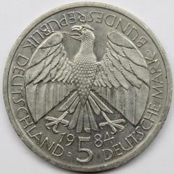Монета > 5марок, 1984 - Германия  (150 лет образования немецкого таможенного союза) - obverse