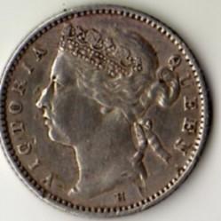 Монета > 10центов, 1882 - Стрейтс Сетлментс  - obverse