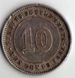 Монета > 10центов, 1882 - Стрейтс Сетлментс  - reverse