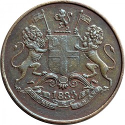 Монета > ¼анна, 1833 - Индия - Британская  (Большие буквы) - obverse