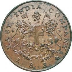 Монета > ½анна, 1834 - Индия - Британская  (Большие буквы) - obverse