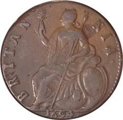 錢幣 > ½便士, 1694 - 英格蘭  - reverse
