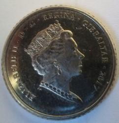 Moneta > 5pence, 2017 - Gibilterra  (50° anniversario del referendum) - obverse